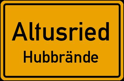 Straßenverzeichnis Altusried Hubbrände