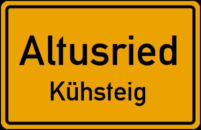 Straßenverzeichnis Altusried Kühsteig