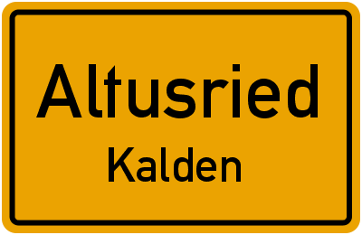 Straßenverzeichnis Altusried Kalden