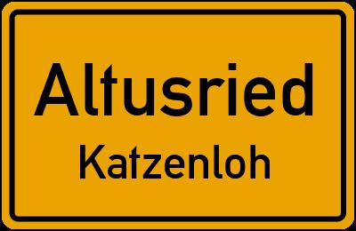Straßenverzeichnis Altusried Katzenloh