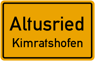 Straßenverzeichnis Altusried Kimratshofen