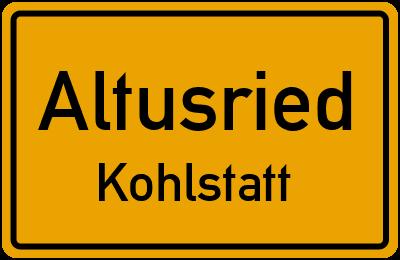 Straßenverzeichnis Altusried Kohlstatt