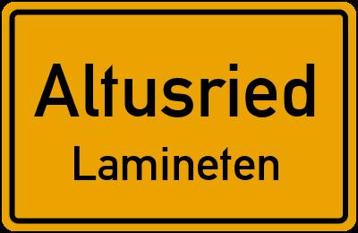 Straßenverzeichnis Altusried Lamineten