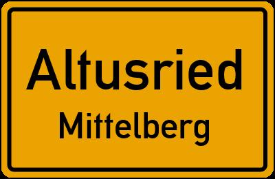 Straßenverzeichnis Altusried Mittelberg