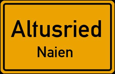 Straßenverzeichnis Altusried Naien
