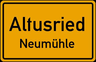Straßenverzeichnis Altusried Neumühle