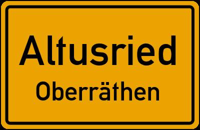 Straßenverzeichnis Altusried Oberräthen