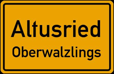 Straßenverzeichnis Altusried Oberwalzlings