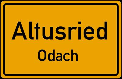 Straßenverzeichnis Altusried Odach