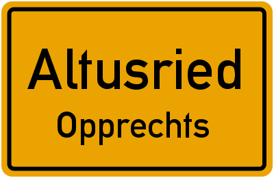 Straßenverzeichnis Altusried Opprechts