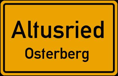 Straßenverzeichnis Altusried Osterberg