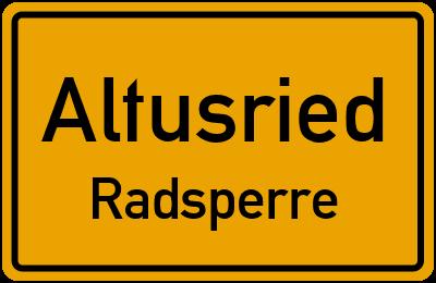 Straßenverzeichnis Altusried Radsperre