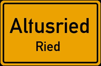 Straßenverzeichnis Altusried Ried