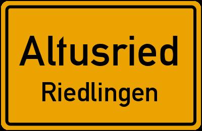 Straßenverzeichnis Altusried Riedlingen