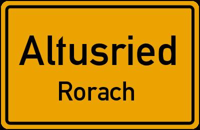 Straßenverzeichnis Altusried Rorach