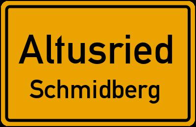 Straßenverzeichnis Altusried Schmidberg