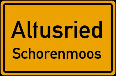 Straßenverzeichnis Altusried Schorenmoos