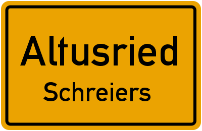 Straßenverzeichnis Altusried Schreiers