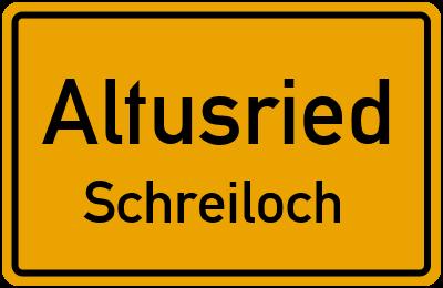 Straßenverzeichnis Altusried Schreiloch