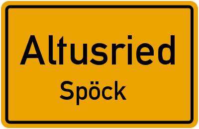 Straßenverzeichnis Altusried Spöck