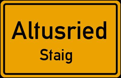 Straßenverzeichnis Altusried Staig