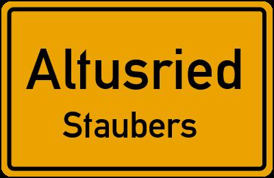 Straßenverzeichnis Altusried Staubers