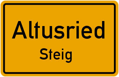 Straßenverzeichnis Altusried Steig