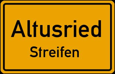 Straßenverzeichnis Altusried Streifen