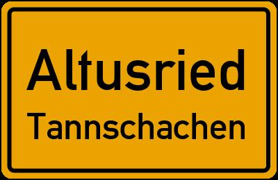 Straßenverzeichnis Altusried Tannschachen