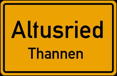 Straßenverzeichnis Altusried Thannen