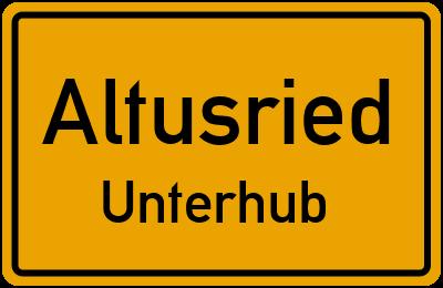 Straßenverzeichnis Altusried Unterhub
