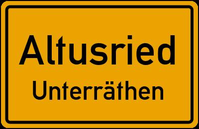 Straßenverzeichnis Altusried Unterräthen