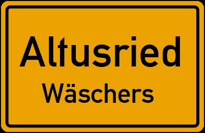 Straßenverzeichnis Altusried Wäschers
