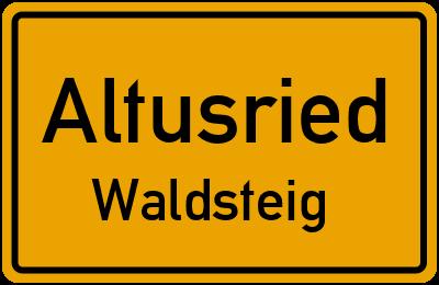 Straßenverzeichnis Altusried Waldsteig