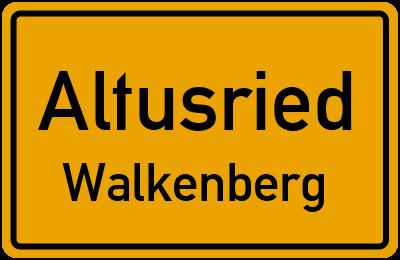 Straßenverzeichnis Altusried Walkenberg