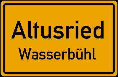 Straßenverzeichnis Altusried Wasserbühl