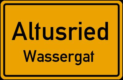 Ortsschild Altusried Wassergat