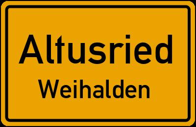 Straßenverzeichnis Altusried Weihalden