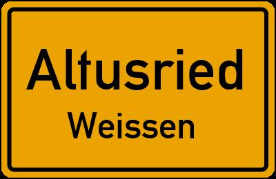 Straßenverzeichnis Altusried Weissen