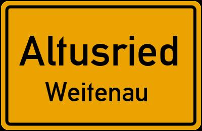 Straßenverzeichnis Altusried Weitenau
