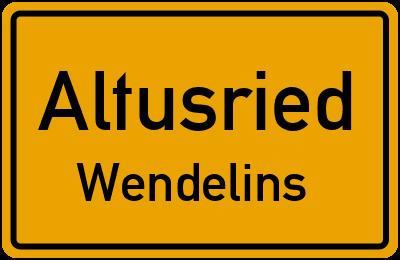 Straßenverzeichnis Altusried Wendelins