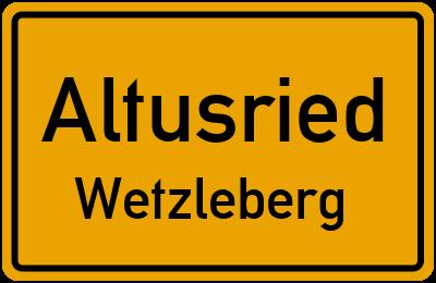 Straßenverzeichnis Altusried Wetzleberg