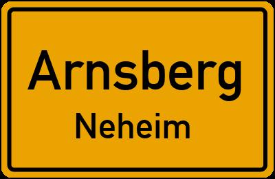 Burgstraße in ArnsbergNeheim