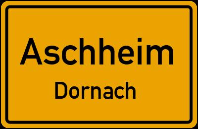 Ortsschild Aschheim Dornach