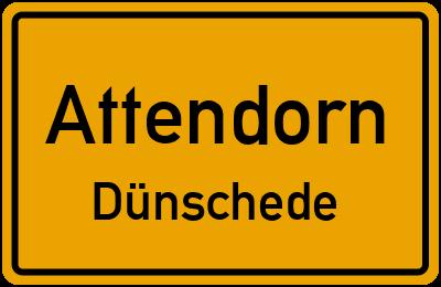 Ortsschild Attendorn Dünschede