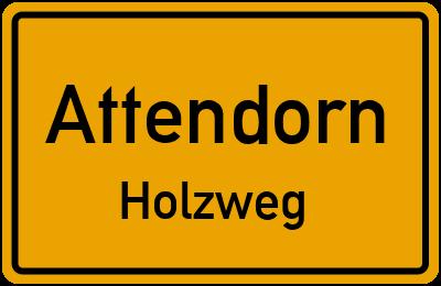 Ortsschild Attendorn Holzweg