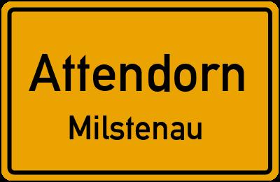 Ortsschild Attendorn Milstenau