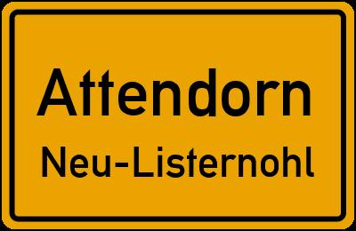Amselweg in AttendornNeu-Listernohl
