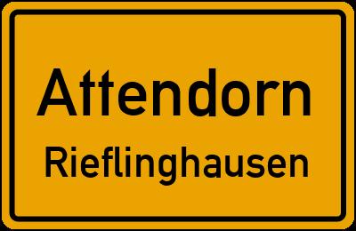 Ortsschild Attendorn Rieflinghausen