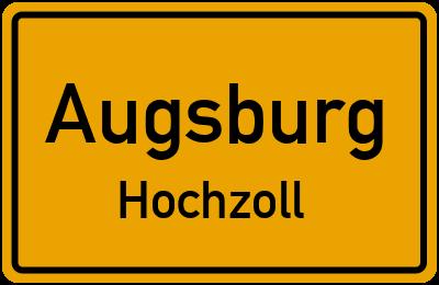 Ortsschild Augsburg Hochzoll
